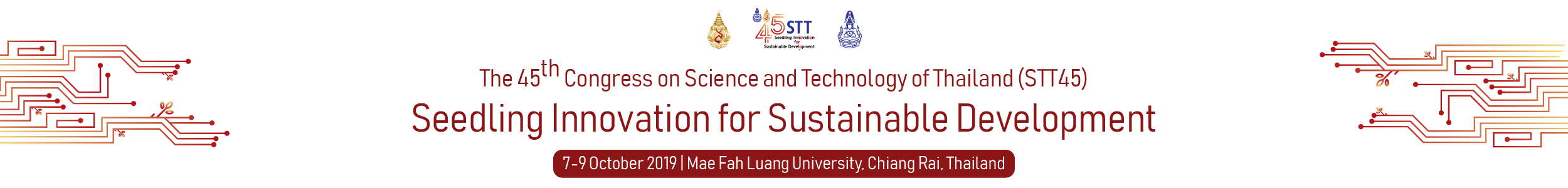 The 45th Congress on Science and Technology of Thailand (STT45)